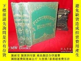 二手書博民逛書店【包罕見】Picturesque Europe,中文書名直譯:《
