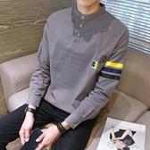 Polo衫 春季長袖t恤男士polo衫韓版潮流內搭上衣服小衫男夏裝短袖 【快速出貨】