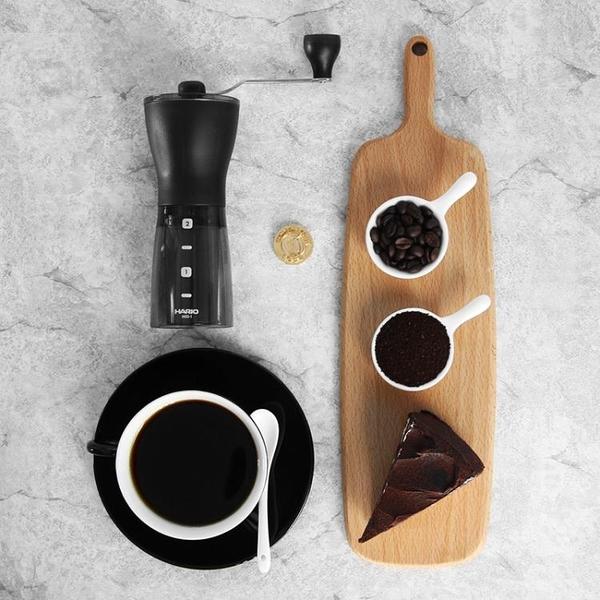 HARIO日本手搖便攜磨粉咖啡磨豆機陶瓷磨芯家用手動研磨咖啡豆MSS【快速出貨】