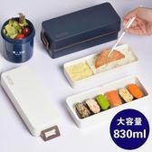 雙12好康 雙層飯盒可微波爐加熱塑料學生分隔午餐~ 詩篇官方旗艦店