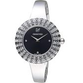 SWAROVSKI施華洛世奇Crystal Rose璀璨時尚錶 5484076 銀色x黑色