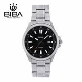 法國 BIBA 碧寶錶 經典系列 藍寶石玻璃 石英錶 B121S101B 黑色 - 42mm