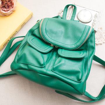 後背包 日本大阪直送滑面大口袋造型包-獨具衣格中大尺碼