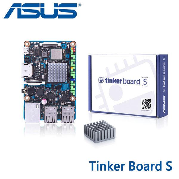 【免運費】ASUS 華碩 Tinker Board S 主機板 (樹莓派主機) / 四核 Rockchip 處理器、16G eMMC