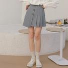 短裙 /2021春季新款 高腰清新百褶設計感半身裙短裙女-8050