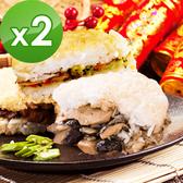 三低素食年菜 樂活e棧 喜氣洋洋-鮮饌六福堡2盒(6顆/盒)-全素