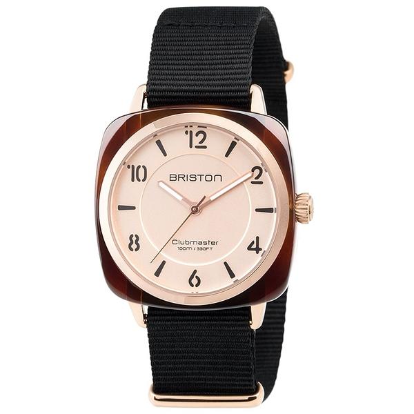 【萬年鐘錶】BRISTON  法國時尚 錶框  黑Nylon帶 18536-PRA-T-6-NB