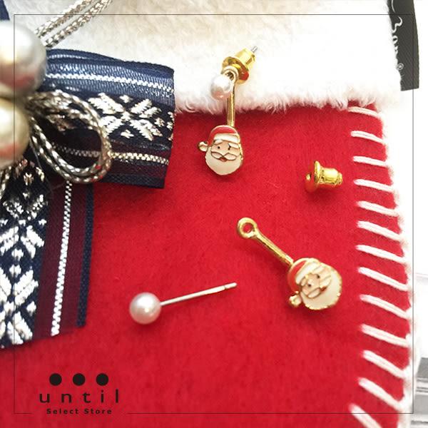 聖誕派對~聖誕老公公珍珠雙面耳環615611/1色