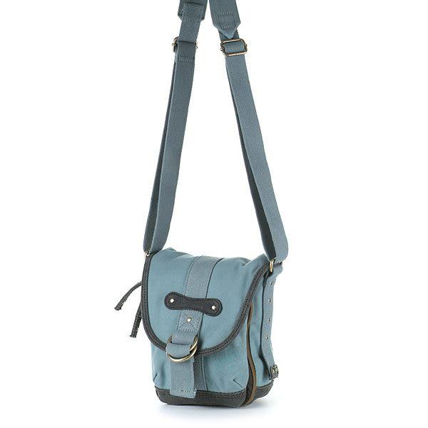 HEDGREN 休閒自然牛仔帆布系列小型側背包(藍灰) HGA274C0GL