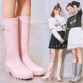 高筒雨鞋雨靴膠鞋水鞋女成人防滑【步行者戶外生活館】