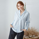 【UFUFU GIRL】100%純棉半開襟襯衫,適合正式場合穿搭。
