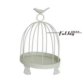 小尺寸白色鳥龍裝飾品 兩種尺寸 可當店內或是家中擺飾 鳥籠造型支架 交換禮物下殺5折