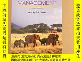 二手書博民逛書店management罕見a focus on leaders 2th(英文原版)Y11026 annie mc