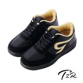 【韓國T2R】運動時尚內增高6公分AIR休閒鞋 6CM 黑(5600-0230)