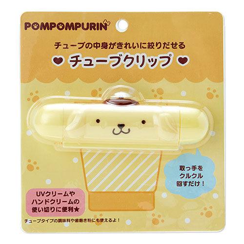 【震撼精品百貨】Pom Pom Purin 布丁狗~布丁狗大臉造型軟管擠壓夾