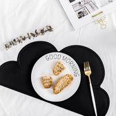 萬聖節大促銷 北歐簡約創意黑白餐桌云朵隔熱墊 可愛卡通兒童硅膠防滑盤子菜墊