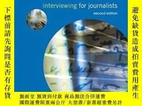 二手書博民逛書店Interviewing罕見For Journalists (m