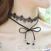 7128#韓國性感蕾絲花邊 蝴蝶結雙層短款項錬頸錬女鎖骨裝飾配飾品 優家小鋪