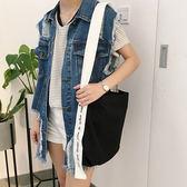 帆布袋 手提包 帆布包 手提袋 環保購物袋--斜背【SPGK7402】 icoca  05/11