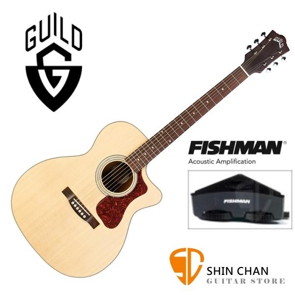 Guild 美國吉他品牌 OM-240CE 可插電 OM琴身/切角 雲杉面單板/桃花心木側背板 附原廠袋(厚袋)OM240CE