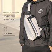 男士胸包側背包男包包休閒運動背包正韓潮流帆布包單肩包小包騎行開  快速出貨