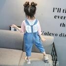儿童背带裤小女童2021新款韩版宝宝牛仔裤春秋装休闲洋气长裤子潮 米娜小鋪