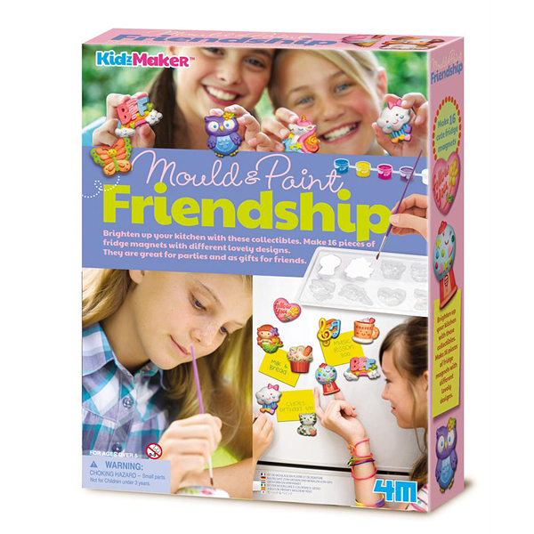 【4M】00-04723 美勞創作DIY 友情創意磁鐵組 Mould & Paint Friendship
