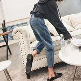 牛仔褲女寬鬆韓版學生bf百搭高腰春秋