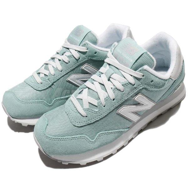 New Balance 515系列 湖水綠 藍 白 麂皮 復古慢跑鞋 休閒鞋 女鞋 【PUMP306】 WL515IFAB