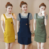 VK旗艦店 韓版顯瘦時尚背帶裙小清新套裝短袖裙裝