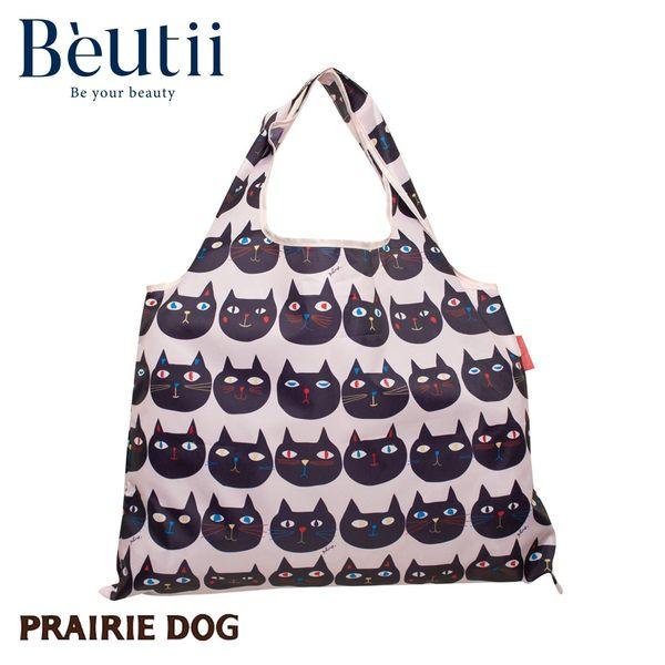 日本 Prairie Dog 設計包 貓臉 日本插畫家 精心設計 方便攜帶 收納方便 雙層布料 提升耐用度