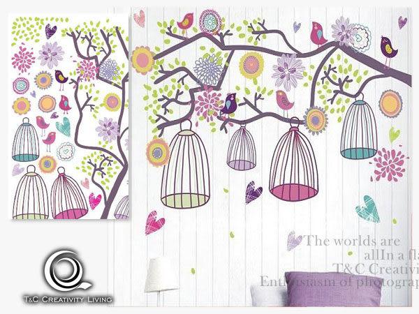 【ARDENNES】創意組合DIY壁貼/牆貼/兒童教室佈置/可重複貼 快樂鳥兒