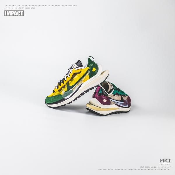IMPACT Sacai x Nike Vaporwaffle 酒紅 黃綠 DD3035-200 CV1363-700