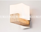 超實惠 特價床頭餐廳橡木原木防塵壁燈木質飯廳奶白玻璃壁燈
