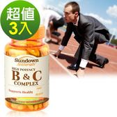 《Sundown日落恩賜》高單位緩釋型B群+C(B12強化配方)(100錠/瓶)3入組