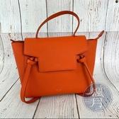 BRAND楓月 CELINE SMALL BELT BAG 橘紅 鯰魚包 手提包 側背包 兩用包