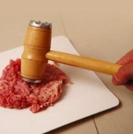多功能廚房雙面敲肉錘牛排錘砸肉筋嫩肉錘木柄敲肉錘 69元
