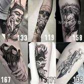 紋身貼防水男女韓國持久ins風暗黑花臂身體彩繪紋身貼紙不永久1年 快速出貨