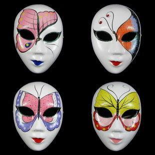 威尼斯面具 歐式臉譜  蝴蝶紙漿彩繪