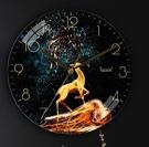 掛鐘 天極星鐘表掛鐘客廳北歐創意家用時尚玻璃免打孔輕奢靜音時鐘簡約TW【快速出貨八折鉅惠】