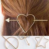 髮飾 復古 金屬 幾何 愛心 星星 髮簪 髮飾【DD1607073】 icoca  04/20