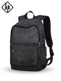 HK雙肩包男背包男士旅行包時尚潮流迷彩高中大學生書包休閒電腦包