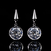 耳環 925純銀 鑲鑽-百搭錐形生日情人節禮物女飾品73hz50【時尚巴黎】