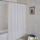 衛生間浴室白色浴簾套裝加厚洗澡隔斷簾子免打孔酒店淋浴簾防水布TA7731【極致男人】