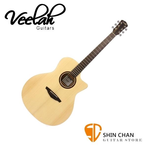 Veelah V1-GAC 單板民謠吉他 桶身:GA桶 雲杉面板 贈原廠木吉他袋/V1專用 全配件 台灣公司貨