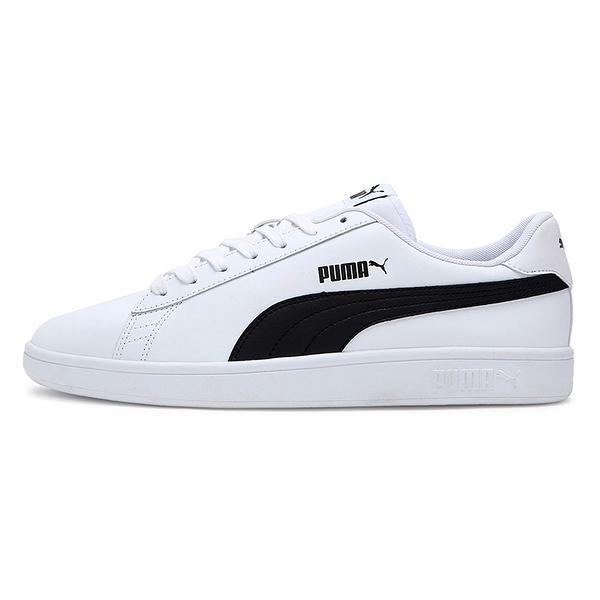 PUMA Smash v2 男鞋 女鞋 休閒 基本款 復古 皮革 白 黑【運動世界】36521501