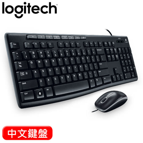 Logitech 羅技 MK200 USB有線鍵盤滑鼠組【限時促銷】