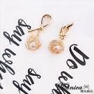 現貨 韓國百搭簡約幾何法式打結金屬纏繞珍珠不對稱耳環 夾式耳環 K93389 批發價 Danica 韓系飾品