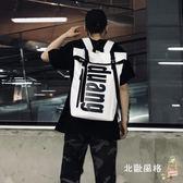 降價兩天-後背包新品潮牌嘻哈捲蓋後背包男女休閒正韓ins超火的背包時尚學生書包