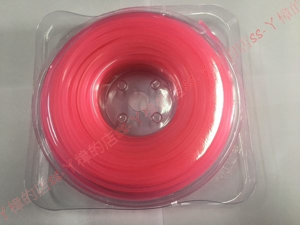 (粉紅色) 割草機牛筋繩~加強版 耐用~四角形3.2mm~ 一卷一磅裝